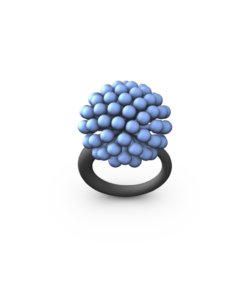 LT BLUE MED ALLIUM RING