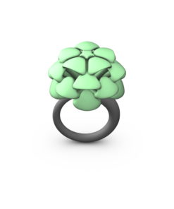 GREEN MED PALM RING