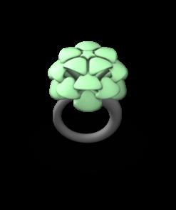 GREEN MED PALM RING
