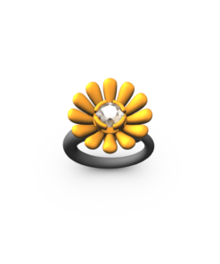 ORANGE MED DAISY RING
