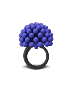 BLUE ALLIUM CHARM RING