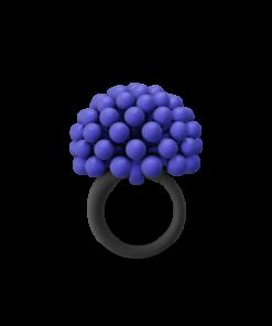 BLUE ALLIUM CHARM RING
