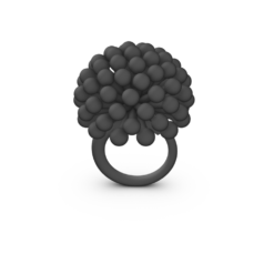black 3D Printed Ring