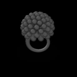 black 3D Printed Ring