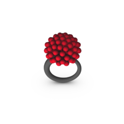 RED MED ALLIUM RING