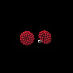 RED 3D PRINTED STUD EARRINGS